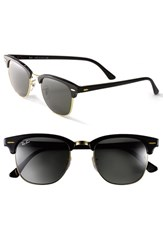 Women's Ray Ban 'Clubmaster' 49Mm Sunglasses Black Gold