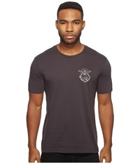 Brixton Tickin Short Sleeve Premium Tee Washed Black Men's T Shirt