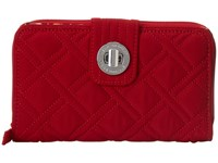 Vera Bradley Turn Lock Wallet Tango Red Wallet Handbags