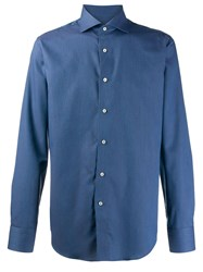 Canali Long Sleeve Shirt Blue