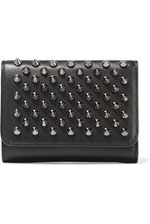 Christian Louboutin Macaron Mini Spiked Leather Wallet Black