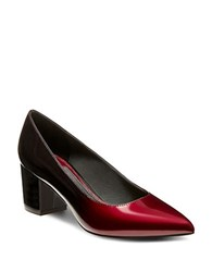 Brian Atwood Kacie Patent Leather Pumps Oxblood
