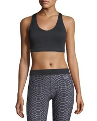 Monreal London Essential V Neck Sports Bra Black