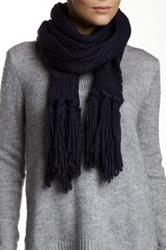 Nine West Cable Knit Open Weave Scarf Blue