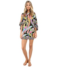 Trina Turk Garden Paisley Tunic Cover Up Multi Women's Swimwear