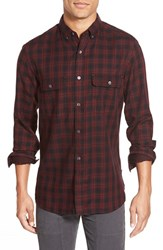 Men's French Connection 'Route' Trim Fit Long Sleeve Plaid Sport Shirt