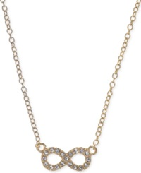 Judith Jack Gold Plated Sterling Silver Crystal And Marcasite Infinity Pendant Necklace No Color