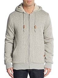 Buffalo David Bitton Fabricio Faux Fur Lined Hoodie Oatmeal