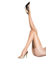 Pretty Polly Sheer Gloss Back Seam Tights Nude