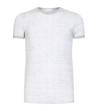 Zegna Horizon Ocean Striped Jersey T Shirt Male Grey