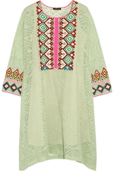 Vineet Bahl Embroidered Crocheted Cotton Dress