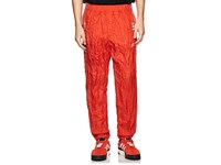 Adidas By Alexander Wang Crinkled Tech Fabric Tear Away Track Pants Red