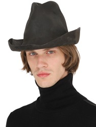 Reinhard Plank Mexicano Leather Effect Wool Hat
