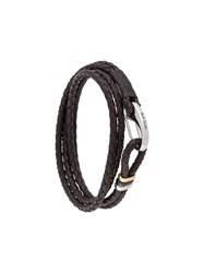 Paul Smith Braided Wrap Around Bracelet Brown