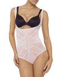 Nancy Ganz Sheer Decadence Shaping Under Bust Bodysuit Shadow Taupe