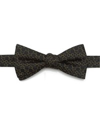 Cufflinks Inc. Mickey's 90Th Anniversary Silk Bow Tie Black Gold