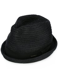 Dsquared2 Straw Fedora Black