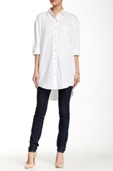 Fire Roll Tab Button Tunic White
