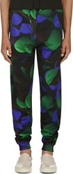 Christopher Kane Black Magnified Molecule Lounge Pants