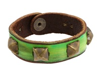 Leather Couture By Jessica Galindo Studded Petite Cuff Green Bracelet