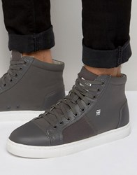 G Star Toublo Mid Trainers Grey