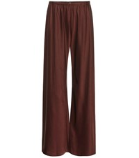 The Row Gala High Rise Palazzo Pants Red