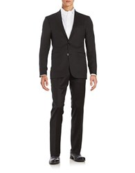 Calvin Klein Pickstitched 2 Button Wool Suit Black