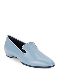 Tod's Slip On Leather Loafers Blue