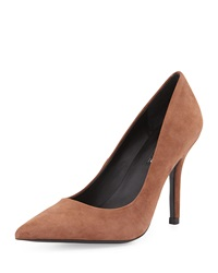 Charles David Suede Pointy Toe Pump Taupe