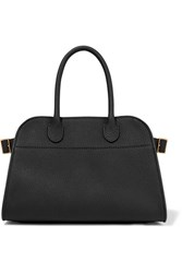 The Row Margaux 10 Buckled Textured Leather Tote Black