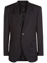 Jaeger Wool Regular Fit Suit Jacket Black