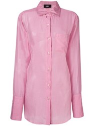 Yang Li Back Tie Shirt Pink Purple