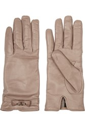 Valentino Leather Gloves Nude
