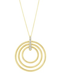 Moderne 18K Diamond Circle Pendant Necklace Carelle