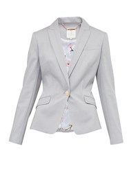 Ted Baker Radiia Single Breasted Blazer Grey