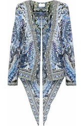 c89f68a092fd Camilla Split Back Embellished Printed Twill Jacket Light Blue