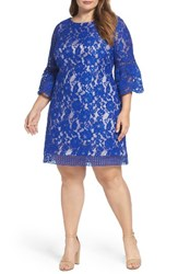 Eliza J Plus Size Women's Bell Sleeve Lace Shift Dress