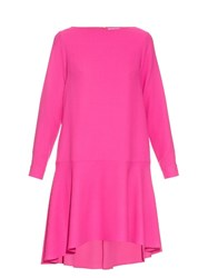 Osman Perfect 5 Beaux Wool Crepe Dress Pink
