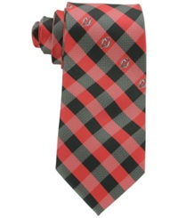 Eagles Wings New Jersey Devils Checked Tie Red