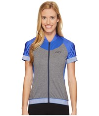 Louis Garneau Icefit 2 Jersey Dazzling Blue Heather Gray Women's Clothing