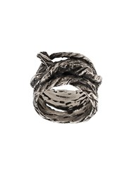 Ann Demeulemeester Twisted Twig Ring Silver