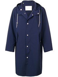 Mackintosh Drawstring Trench Coat Blue