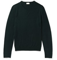 Club Monaco Merino Wool Sweater Dark Green