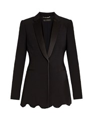 Versace Satin Lapel Embellished Cady Jacket Black