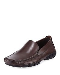 Kenneth Cole Perforated Slip On Drivers Brown