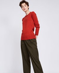 Aspesi Wool Yak Cashmere Sweater Dark Orange