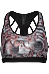Koral Glow Versatility Printed Stretch Jersey Sports Bra Multi