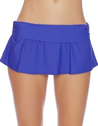 Athena Maliah Flared Swim Skirt Indigo