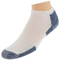 Thorlos Running Micro Mini Crew 3 Pair Pack White Navy Low Cut Socks Shoes