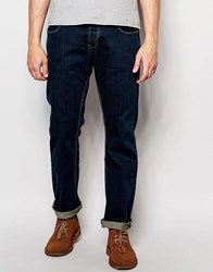 Dickens And Browne Slim Fit Button Fly Jean Navy